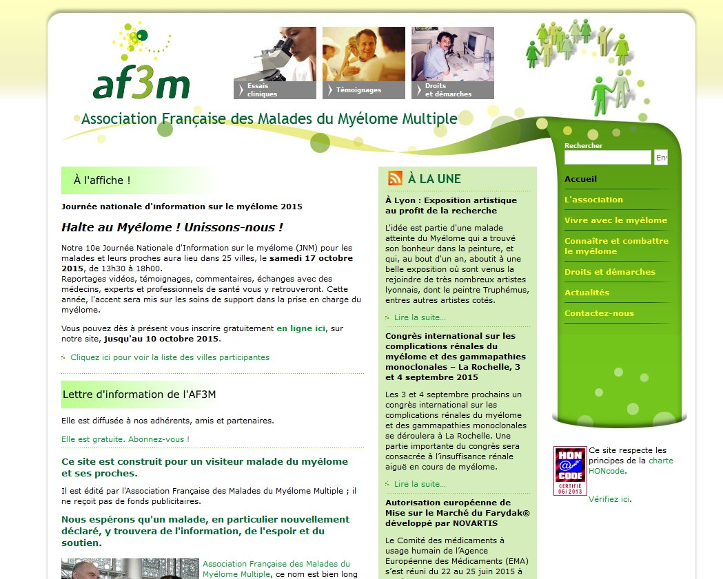 le site de l'AF3M