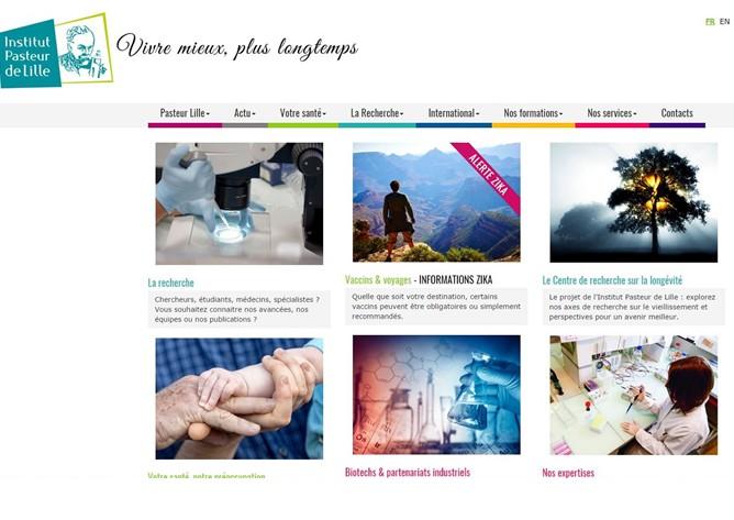 Un nouveau site internet pour l'Institut Pasteur de Lille