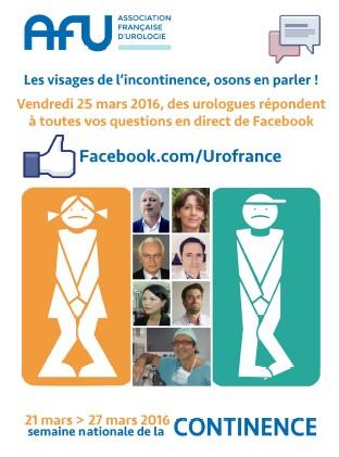 Chat Facebook spécial Incontinences
