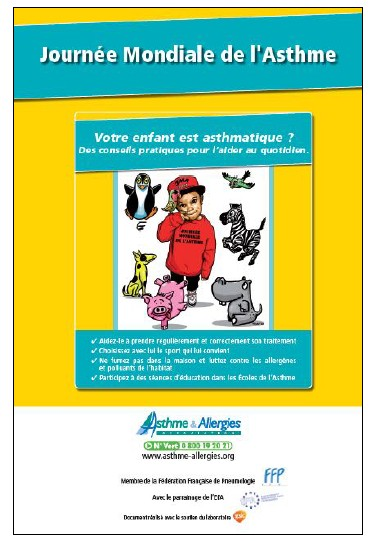 Journée Mondiale de l'Asthme, le 3 Mai 2016