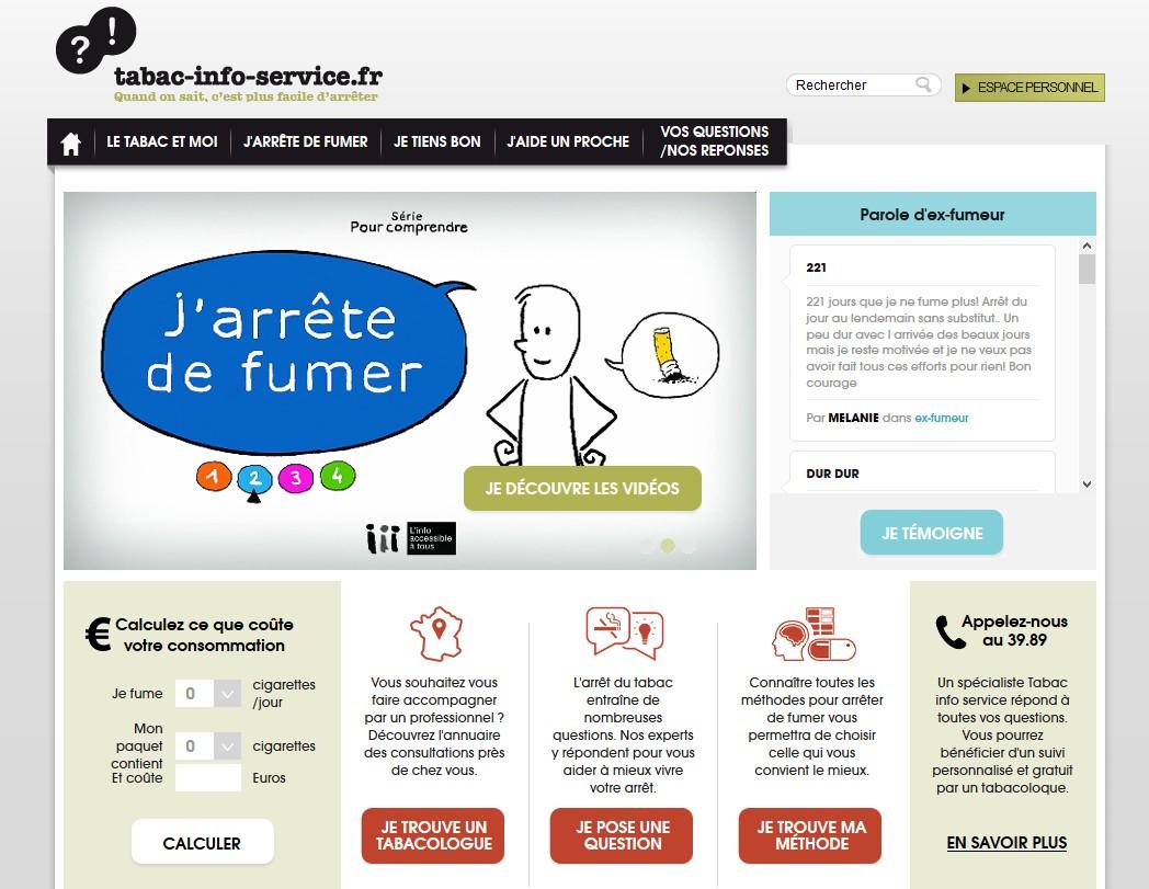 Le site Tabac info service