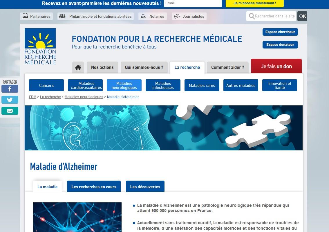 Maladie d'Alzheimer : la Fondation pour la Recherche Médicale se mobilise pour la journée mondiale