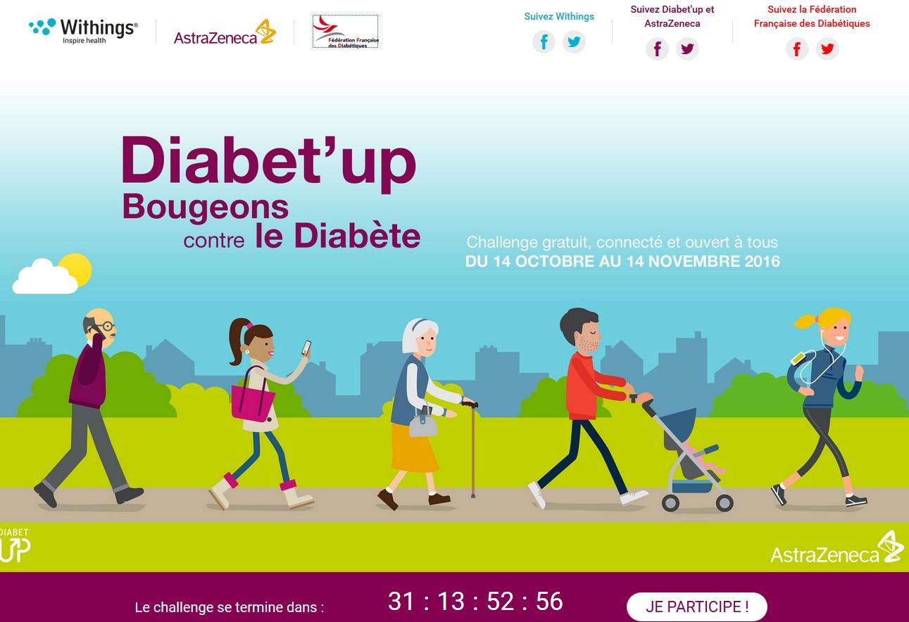 Relevez le défi « Diabet'up : Bougeons contre le diabète ».