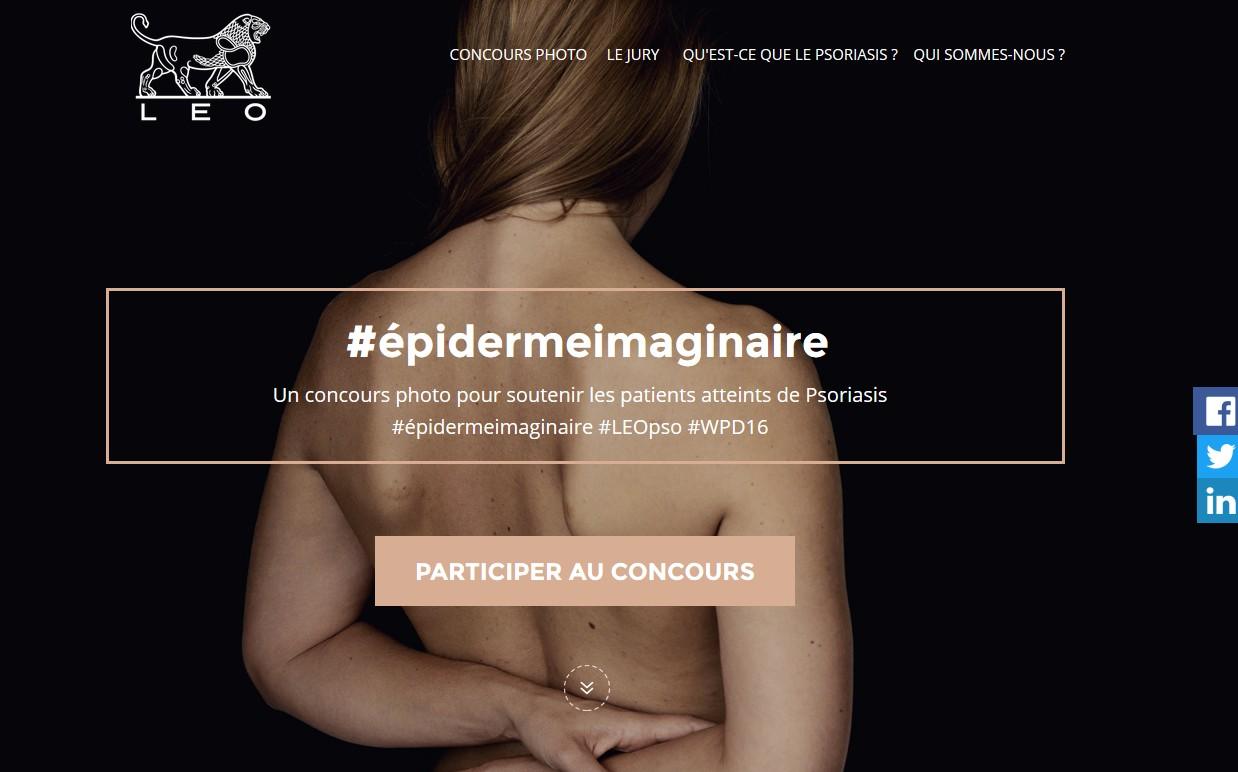 """Psoriasis : un concours photo sur le thème """"épiderme imaginaire"""""""