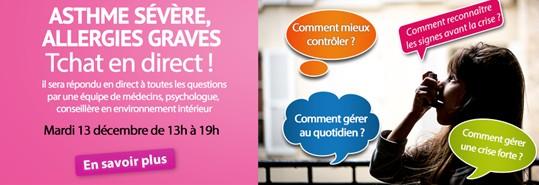 Asthme sévère: un Tchat en ligne pour poser vos questions