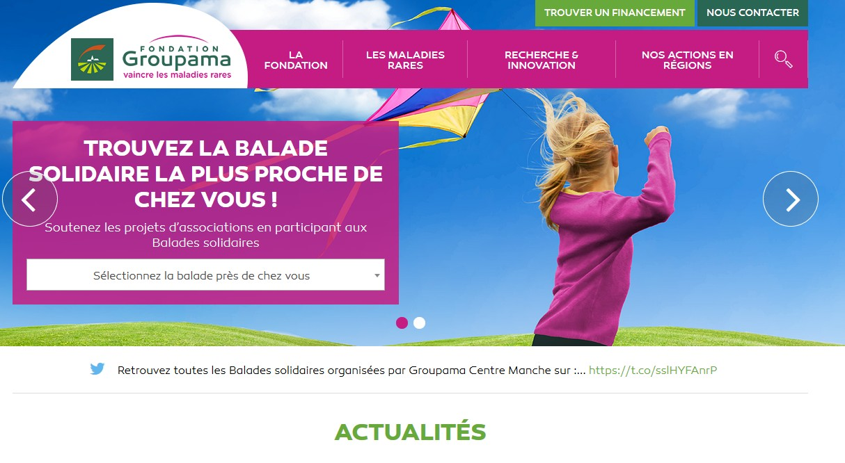 Le site de la Fondation Groupama
