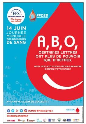 Journée mondiale des donneurs de sang, le 14 juin 2017