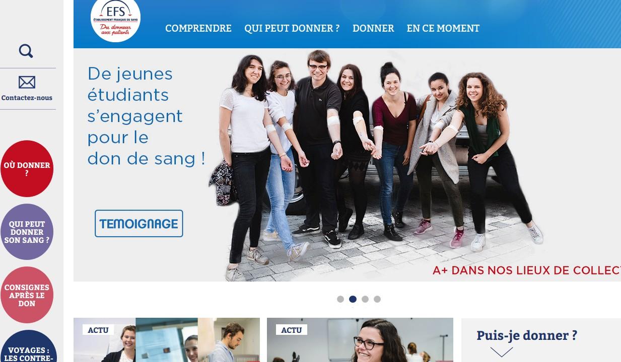Le site dondesang.efs.sante.fr