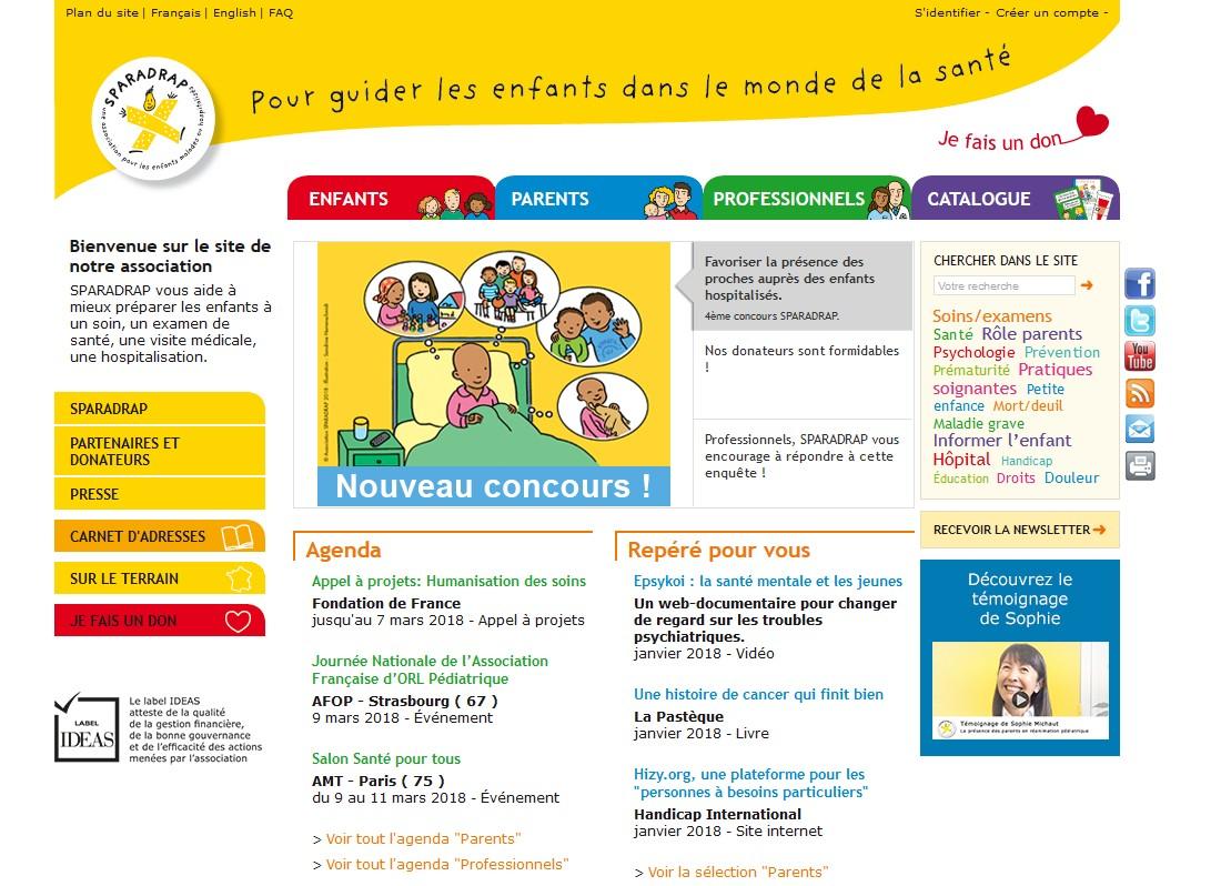 Le site www.sparadrap.org