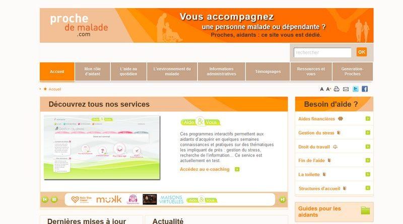 Le site www.prochedemalade.com